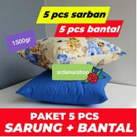 PAKET 5 PCS SARUNG BANTAL + 5 PCS BANTAL