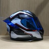 Snail FFS1 Thunder black white visor BLUE spoiler 3D irridium BLUE ori