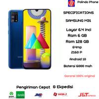 Samsung Galaxy M31 ram 6/128GB garansi resmi