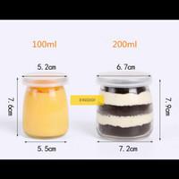 200ml 200 ml Botol Jar Toples Kaca Puding Selai Yogurt Kue