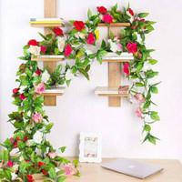 Daun Mawar Rambat I Artificial - Bunga Palsu - Tanaman Hias Plastik