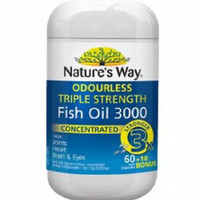 Natures Way Odourless Triple Strength fish oil 3000mg isi 70 aussie