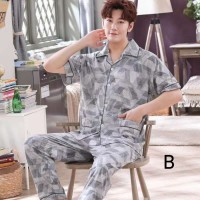 Baju Tidur Pria 296 Piyama Cowo Men Pajamas Murah Katun Sleepwear Set