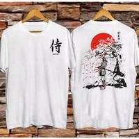 T-Shirt Samurai Sakura / Baju Kaos Distro Pria & Wanita / Cotton 30s