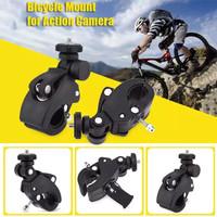 Clamp Bike Mount Tripod Adaptor Sepeda for Xiaomi Yi / GoPro / Brica