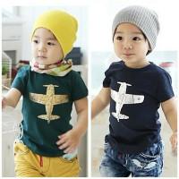 BAJU KAOS anak laki laki Plane 1 - 7 Tahun Baju Kaos atasan Anak