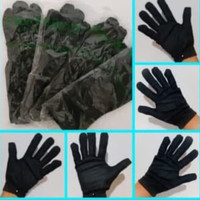 Sarung tangan kain hitam formal hand medical anti virus setengah lusin