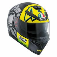 Helm AGV K3SV Rossi Winter Test Matt Black Winter K3SV Matte Doff