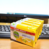 Dettol Sabun Mandi Batang 105g Fresh Citrus Super Hemat Isi 5
