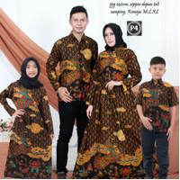 Batik keluarga family motif mega mendung kuning