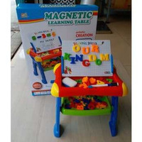 mainan edukasi anak Meja belajar Magnetic Laki Perempuan terbaru murah