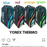 tas badminton ransel thermo best seller bahan dolby berkualitas - Biru