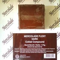 mercolade dark coklat compound repack 500gr