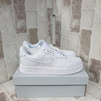 Sepatu Sneakers Nike Air Force 1 Low Full White Premium Original