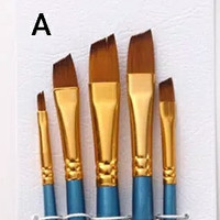 Kuas Lukis Cat Air Akrilik Set 5 pcs Oil Paint Brush