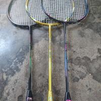 Badminton Bulutangkis raket racket smash lining bonus grip tas 1r