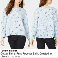 Tom*y Hilfig*r cotton floral blouse