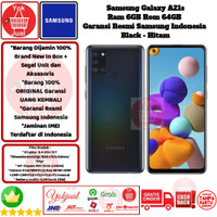 Samsung Galaxy A21s 6GB/64GB A 21s 6/64 GB A21 s 6/64GB Resmi-Black