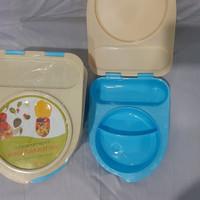 Kotak Makan Engsel Plastik / Lunch Box / Ompreng Plastik Tutup Ori