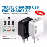 Travel Charger Fast Charge 3.0A Original Wellcomm