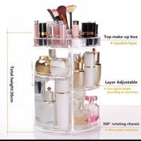 Rak kosmetik putar Acrylic/Rak Organizer Acrylic 360 derajat