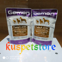 Makanan Anjing Basah/ Gemon Pouch Puppy Chunkies With Chicken 100g