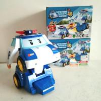 Mainan Mobil Robot Poli Bisa Jalan dan Music