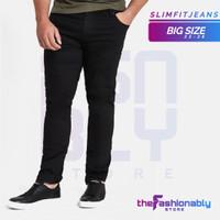 (BIG SIZE) Celana Skinny Jeans Pria - Biru Muda, 38