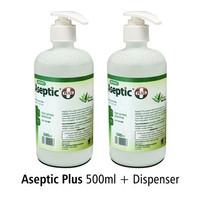 ASPETIC PLUS ONEMED 500 ML & DISPENSER PUMP / ASEPTIC PLUS ONEMED