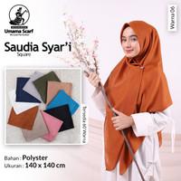 Hijab jilbab kerudung segi empat saudia syar'i uk 140x140cm by umama m