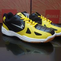 Sepatu Bulu Tangkis Sepatu Badminton Eagle Smasher Hitam kuning - Kuning, 43