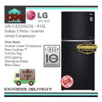 KULKAS BESAR 2 PINTU LG GNC422SGCN INVERTER LINEAR BLACK GLASS