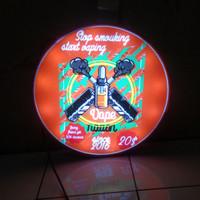 neon box bulat 40cm