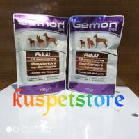 Makanan Anjing Basah/ Gemon Pouch Adult Chunkies With Wild Game 100gr