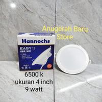 Lampu downlight LED panel 9 watt putih 4 inch hannochs