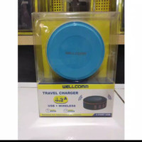 Travel Charger USB + WIRELESS 4.2A WELLCOMM