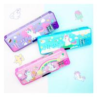 Kotak pensil magnet unicorn