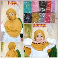 Hijab Nikob Anak - Hijab Anak Nikob Pastan - Kerudung Instan Anak