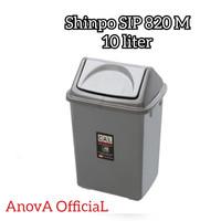 TEMPAT SAMPAH TUTUP GOYANG KOTAK. SHINPO SIP 820 M. 10 LITER