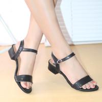 Sandal Heels Fashion Wanita Diva Sendal Kerja Hitam dan Salem BK02