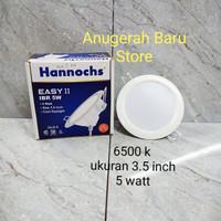 Lampu downlight LED panel 5 watt putih 3.5 inch hannochs
