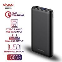 Power Bank 15000mAh Vivan VPB-H15 LED Display Dual Input Dual Output