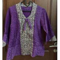 Baju atasan batik parang kencana, size : XS, warna : ungu