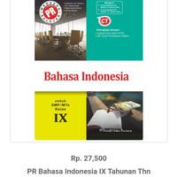 PR BAHASA INDONESIA SMP/MTS KELAS IX SEMESTER 1