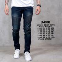 biker jeans/celana jeans pria/ripped jeans pria/skinny jeans - 29