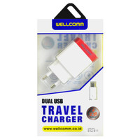 Wellcomm Dual USB Travel Charger
