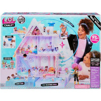 LOL SURPRISE WINTER DISCO CHALET WOODEN DOLL HOUSE WITH 95+ SURPRISES