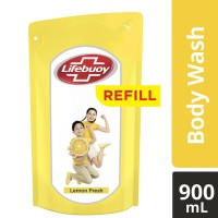Lifebuoy Bodywash Lemon 900 ml / Sabun Cair Lifeboy Kuning 900ml