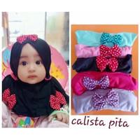 hijab anak pita polka / jilbab anak instan / kerudung bayi