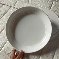Tatakan Pot Plastik 30cm PUTIH pcs 30 Cm Alas Pot Bunga 35 40 cm